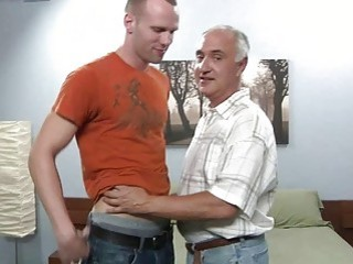 Horny grey man adores to fuck fresh cute guys