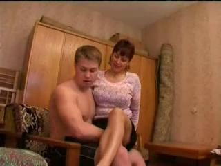 Fat mature mother gangbanged by young boys