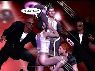 Mad Public Orgy in Gay Club 3D Gay Comics or Anime