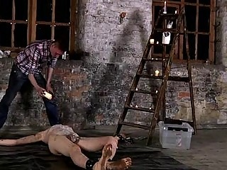 Hot gay sex Chained to the warehouse floor and incapable to escape