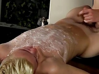 Hot gay scene Splashed With Wax And Cum
