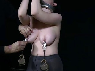 Breasty angel loves getting bizarre pussy torture
