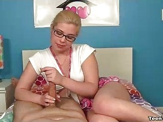 Teen Finds Amazement In Milking His Hard Cock