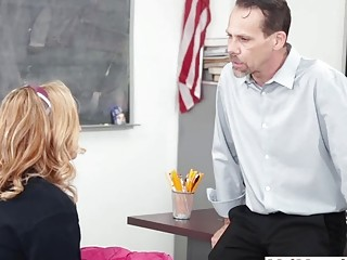 Groping a high school girls in the classroom