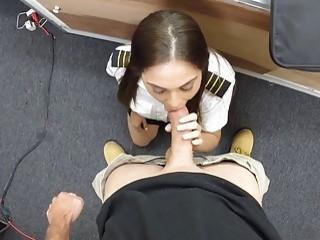Stewardess screwed by nasty pawn dude