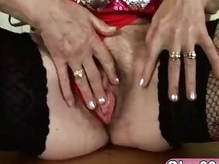 Big tits blonde granny fucking floor blowjob