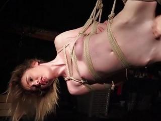 Worthless bondage bitch punished in hardcore bdsm