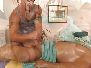 Slutty chap is getting a relaxing massage