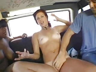 That babe finds plenty of adventures in a bang bus