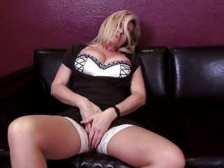 Polish babe with a busty ass rides her old man