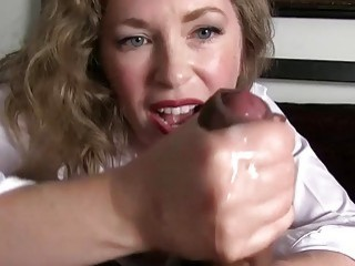 Alluring mature woman makes her horny fuckers cum hot compilation