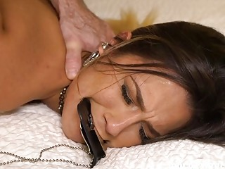 Whore gets tied up and fucked like a complete slut
