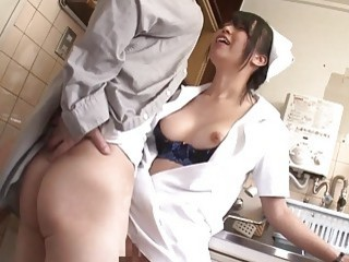 Natsume Eri Cosplay Nurse Fucked In The Kitchen