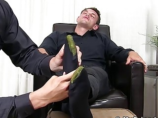 Classy young stud sole licked and feet worshiped