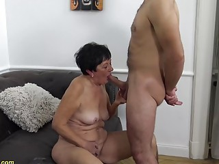 hairy 82 years old mom needs a young boy