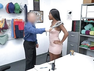 ShopLyfter  Sexy Black Shoplifter Has To Fuck