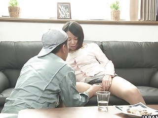Asian chick sucks off dude before getting railed really hard
