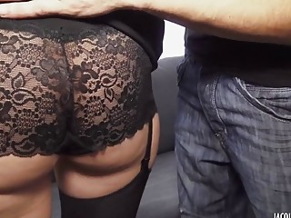 Beautiful slut gets rammed while wearing some incredibly sexy lingerie