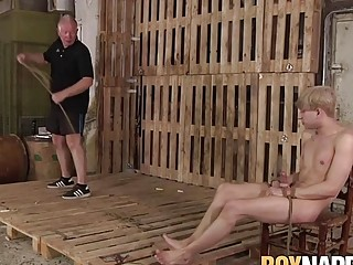 Twink sub punished with masters cock