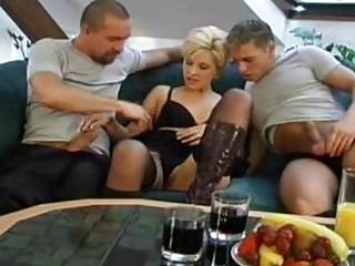 3some With Short Hair Czech MILF